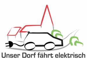 """Logo """"Unser Dorf fährt elektrisch"""""""